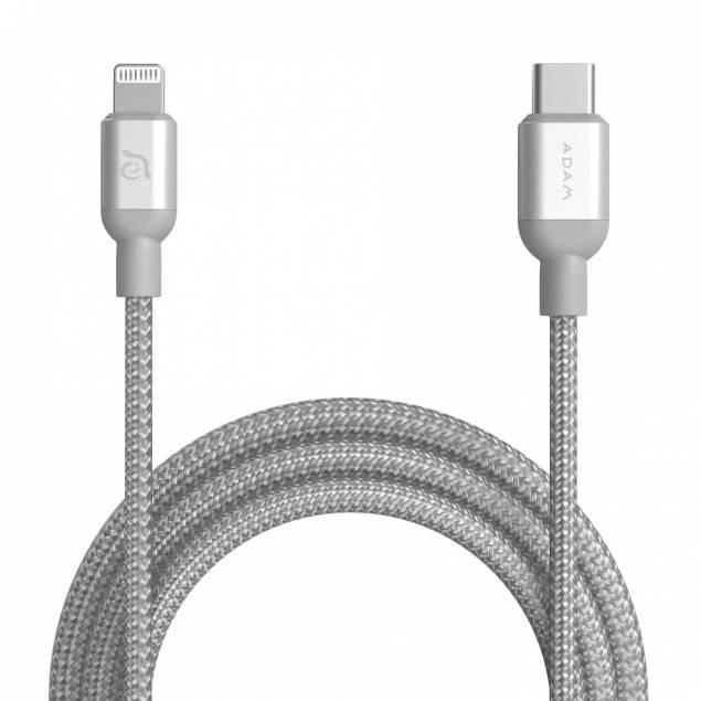 Adam Elements USB-C til Lightning kabel MFi 1,2m sølv sølv sølv