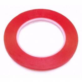 Rød dobbeltklibende tape