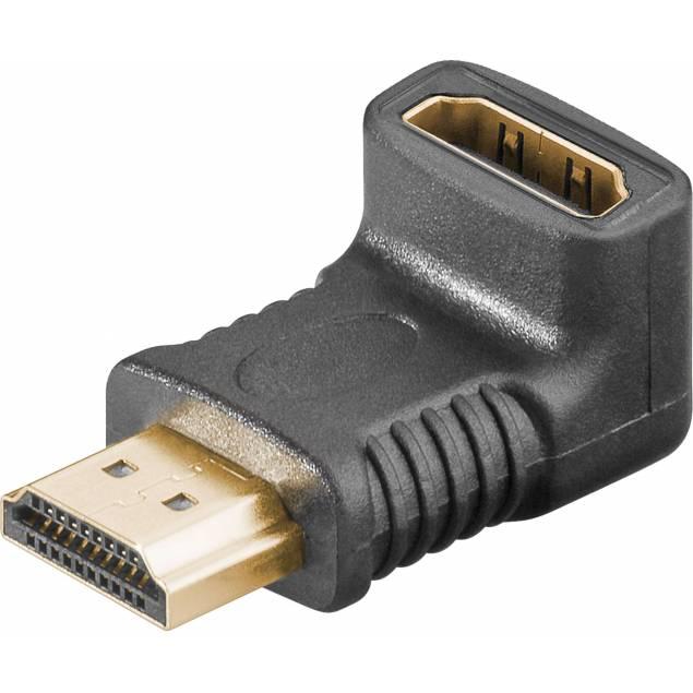 HDMI hun til HDMI han med knæk