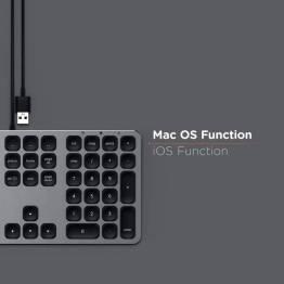 Satechi-tastatur med USB lavet til Mac - Nordic Layout (æøå)