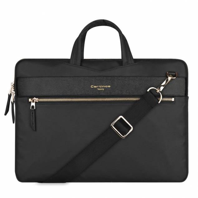 "Macbook 13"" sleeve London style med strap"