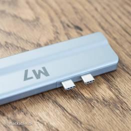 M7 USB-C Dual HDMI Adapter 8 i 2 med 2x HDMI(skærme)