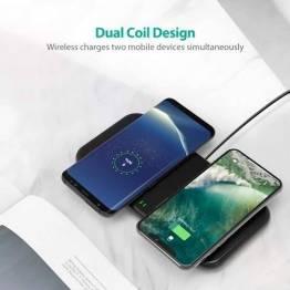 RAVPower Dual Coil trådløs Qi dobbelt oplader