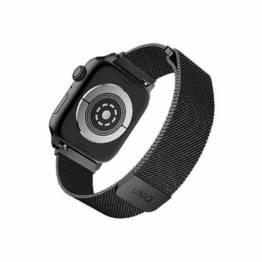 QNIQ Dante Milanese Loop rem til Apple watch 42/44 mm - sort