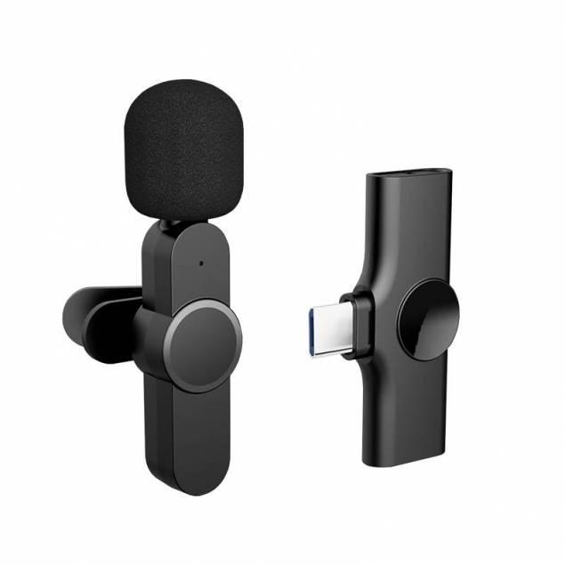 Trådløs Mikrofon Clip on med USB-C