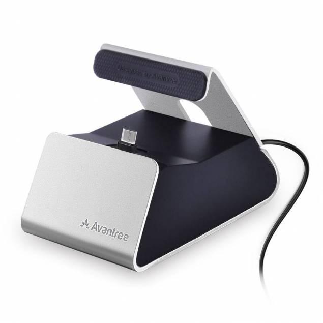 Avantree Micro USB Charge Dock i sølv/sort